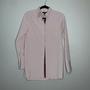 J. Crew Endless Shirt in burgundy Stripe size 4